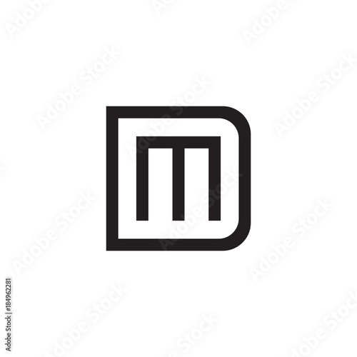 Initial letter d and m dm md overlapping m inside d line art initial letter d and m dm md overlapping m inside d line altavistaventures Image collections