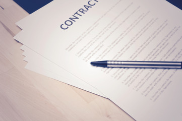 Contract documents: Business concept