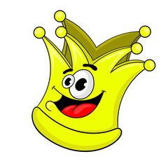 cartoon Golden crown, vector illustration