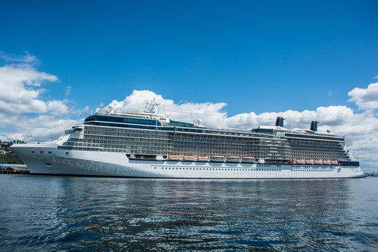 Cruise ship in port, Seattle, WA