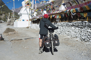 cycling in the Himalayas, Mustang region, November 2017