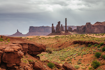 Monument Valley on a Cloudy Day