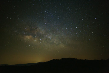 Landscape milky way galaxy with stars and space dust in the universe