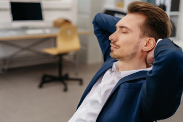 Businessman taking a moment to relax