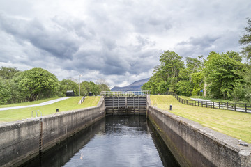Caledonian canal locks at Corpach Fort Filliam Highlands