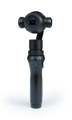 Handheld Stabilizing Camera 4K Isolated on White Background