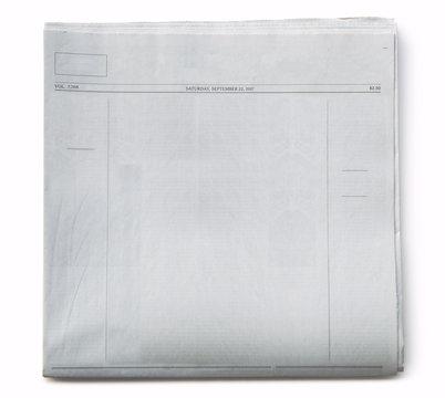 Newspaper Blank on White Background