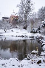 Schloss Laubach verschneit IV