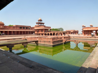 FATEHPUR SIKRI, INDIA, OCTOBER 16, 2017 - Fatehpur Sikri is a subdivision of India, located in the district of Agra, in the state of Uttar Pradesh, India, Asi