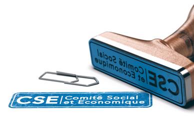 Comité Social et Economique, CSE. Fond Blanc