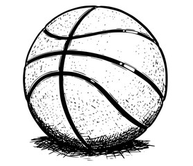 Basketball ball Vector Hand Drawing Illustration