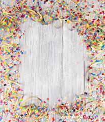Spoed Fotobehang Carnaval frame carnival confetti