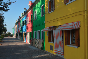 Colourfull houses in Burano