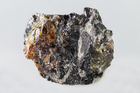 Blende mineral on white background
