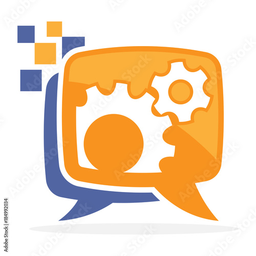 Logo Icon With The Concept Of Communication Media Explains How It