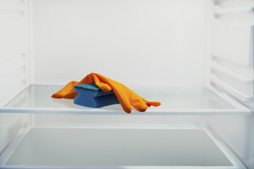 rubber glove with sponge wash