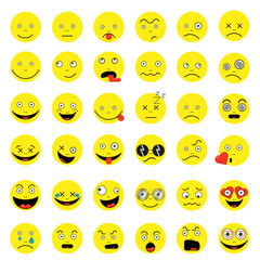 Smileys funny funny yep vector 10 vector set