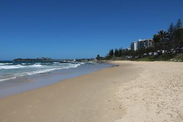 Sandy beach of Sunshine Coast in summer in Queensland, Australia