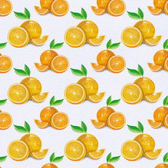 Watercolor orange fruit pattern