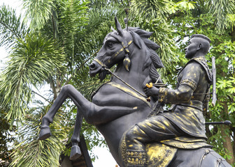 Horse and rider statue Chiang Mai Thailand