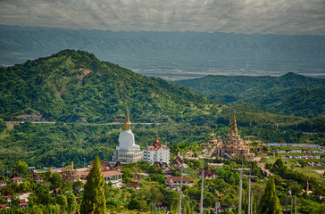 The beautiful mountain view in morning at Kao Kho Mountain district
