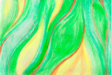 Green striped abstract background . Watercolor rich texture. Image of stone structure