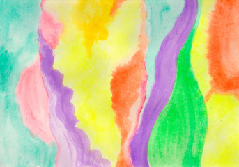 Watercolor rich texture.Multicolor abstract background .