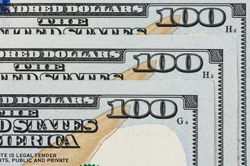 Close up of 100 dollar bill