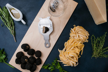 truffle delicacy cooking vegan restaurant food mushroom pasta concept. Culinary delights.