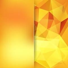 Abstract polygonal vector background. Geometric vector illustration. Creative design template. Abstract vector background for use in design. Yellow, orange colors.
