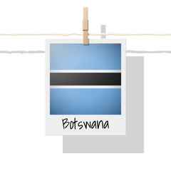 African country flag collection with photo of Botswana flag , vector , illustration