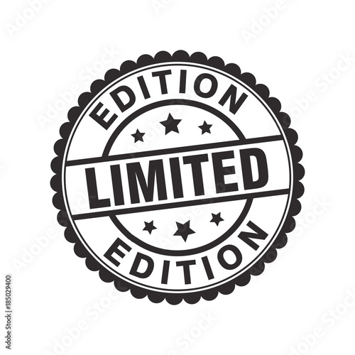 Limited Edition Sign Seal Stamp Medal Vector Design Stock Image And
