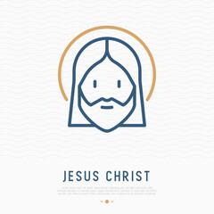 Jesus Christ thin line icon. Modern vector illustration.