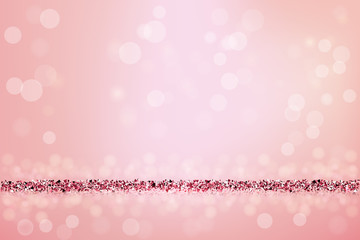 Beautiful pink background with pink glitter. Vector illustration.