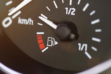 Car fuel gas tank meter