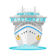 cruise ship - front view