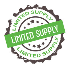 Limited supply stamp. Sign.Seal