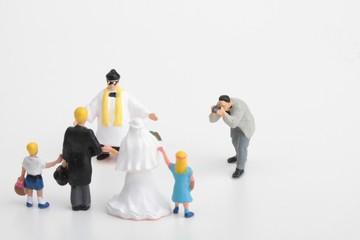 fotografo di matrimonio in miniatura
