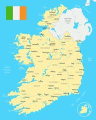 Ireland Map - Detailed Vector Illustration