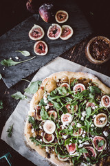 Caramelized Onion and Goat Cheese Pizza with Fig Jam