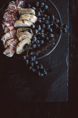 Grapes, Meats, Bread