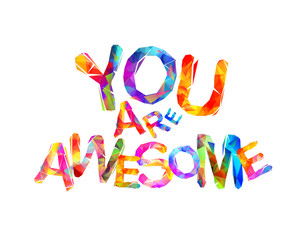 You are awesome. Triangular letters