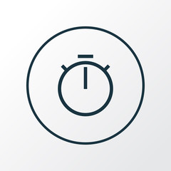 Chronometer icon line symbol. Premium quality isolated timer element in trendy style.