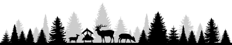 Wald und Rehe