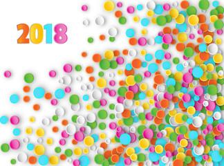 Colored carnaval confetti background