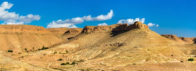 Landscape near Doiret village in South Tunisia