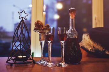 new year atmosphere, romance, celebration