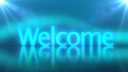 Welcome text background