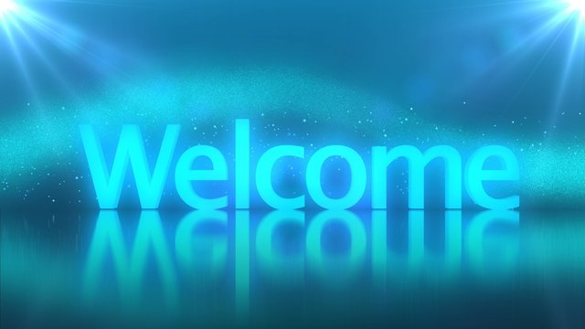 Welcome text background banner