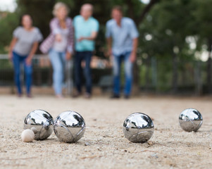 people playing petanque at leisure